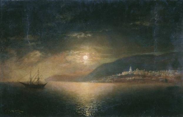 Rufin Gavriilovich Sudkovsky. Moonlit night