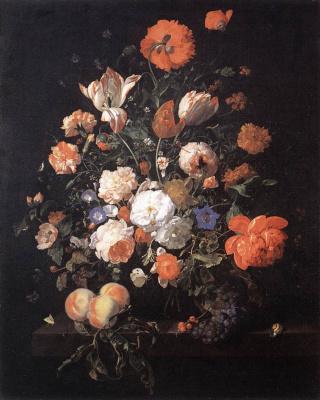 Rachelle Ruysch. Vase with flowers