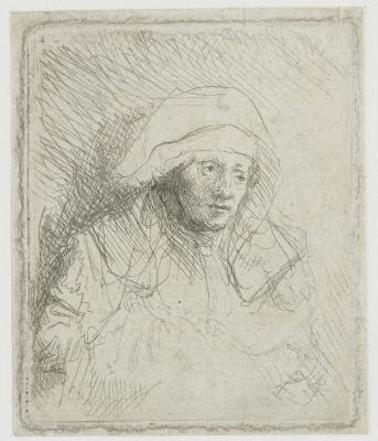 Рембрандт Харменс ван Рейн. Больная женщина в белом платке (Саския)