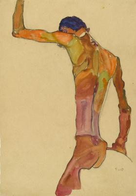 Egon Schiele. Male Nude
