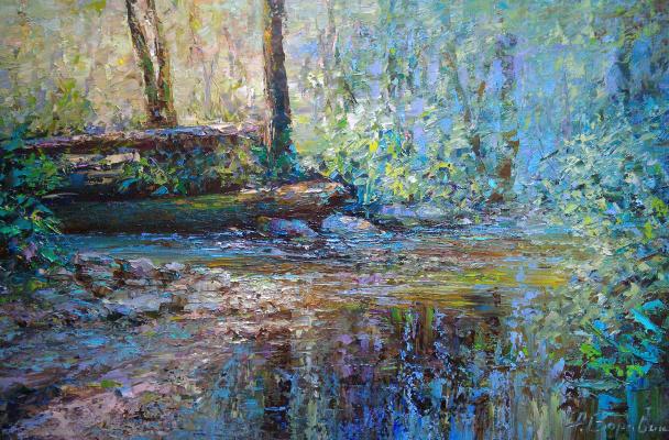 Andrei Ivanovich Boravik. The bridge in the forest