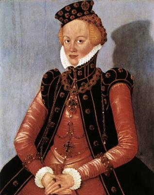 Lucas the Younger Cranach. Female portrait