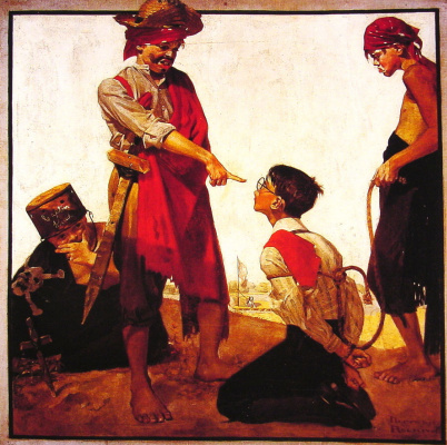 Norman Rockwell. Cousin Reginald plays pirate