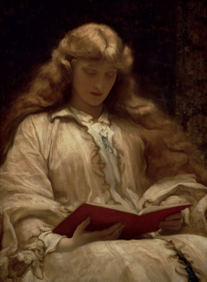 Frederic Leighton. Virgin with golden hair