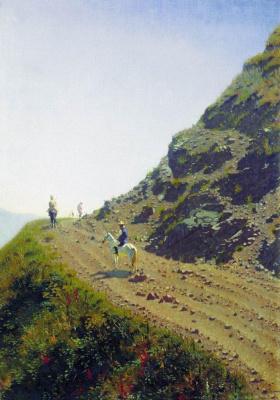 Василий Васильевич Верещагин. Кочевая дорога в горах Алатау