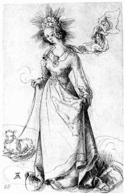 Albrecht Durer. Saint Agnes