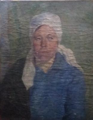 Leo Nikolayevich Zemskov. Portrait of a milkmaid