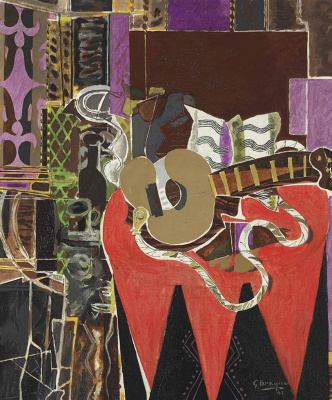Georges Braque. Mandolin notes