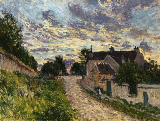 Alfred Sisley. The path in Louveciennes