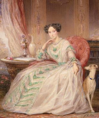 Кристина Робертсон. Портрет великой княгини Марии Александровны. 1850
