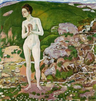 Фердинанд Ходлер. Женщина в ручье