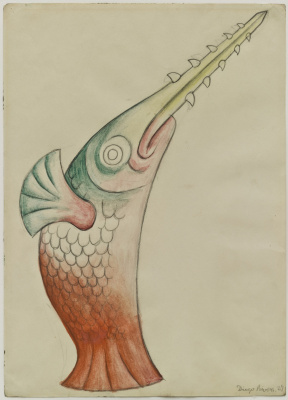"Diego Maria Rivera. The sword-fish. The costumes for the ballet ""Horsepower"""