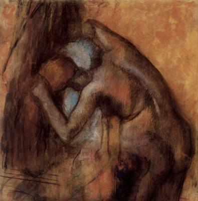 Эдгар Дега. Обнаженная, вытирающая волосы