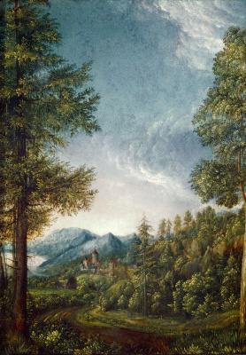 Альбрехт Альтдорфер. Дунайский пейзаж близ Регенсбурга