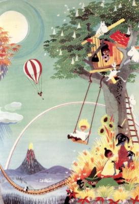 """Туве Янссон. Обложка для книги Т. Янссон """"Муми-дол в ноябре"""""""