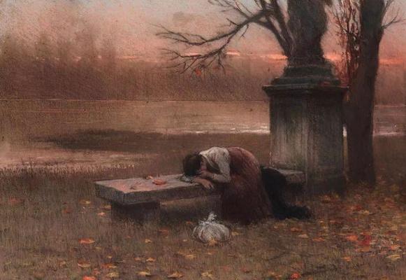 Jakub Schikaneder. Lost in thought