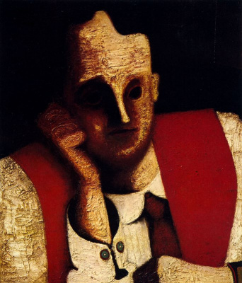 Mordechai Ardon. The man in red