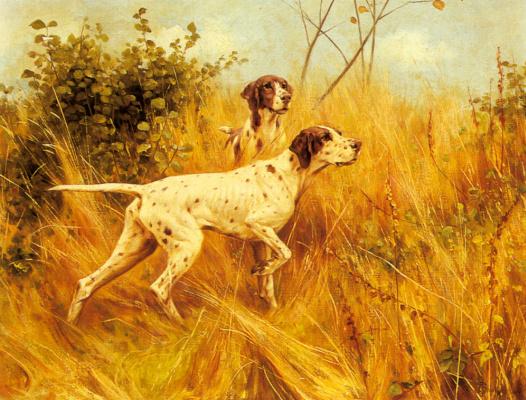 Томас Блинкс. Пейзаж с двумя собаками