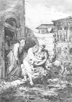 Орест Адамович Кипренский. Наводнение в Петербурге 7 ноября 1824 года