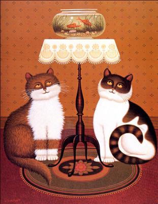 Чарльз Высоцкий. Пара кошек
