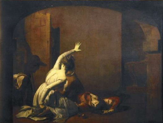 Joseph Wright. A man and a woman