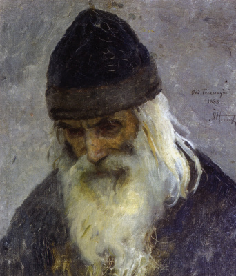 """Mikhail Vasilyevich Nesterov. Father Gennady. Study for the painting """"the Hermit"""""""