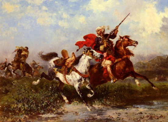 Джордж Вашингтон Уистлер. Борьба арабских кавалеристов