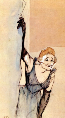 Henri de Toulouse-Lautrec. Yvette Gilber before the curtain