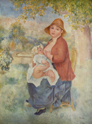 Pierre-Auguste Renoir. Motherhood (Aline and Pierre)