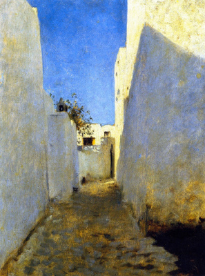 John Singer Sargent. Moroccan street