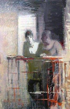 Дмитрий Евгеньевич Иконников. Дамы на балконе