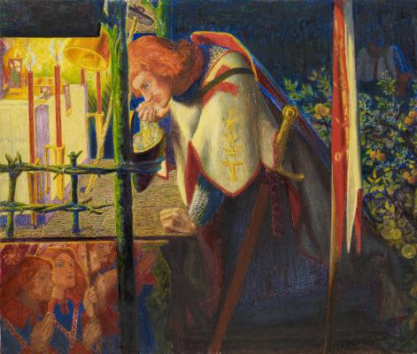 Dante Gabriel Rossetti. Sir Galahad at the ruined chapel
