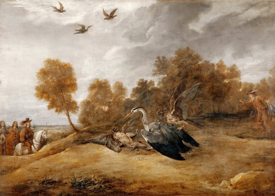 David Teniers the Younger. Heron Hunt with Archduke Leopold Wilhelm