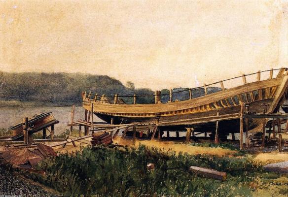 Winslow Homer. Shipbuilding, Ipwich