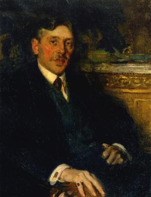 Павел Дмитриевич Шмаров Россия-Франция 1874-1950. Мужской портрет. 1919