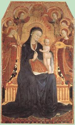 Сассетта. Мадонна с младенцем и святыми (фрагмент)