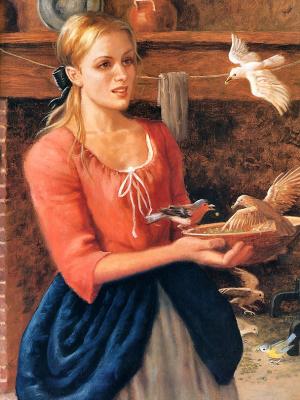 Рут Сандерсон. Кормление птиц