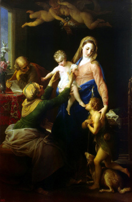 Pompeo Batoni. The Holy Family with Saint Elizabeth and Saint John the Baptist