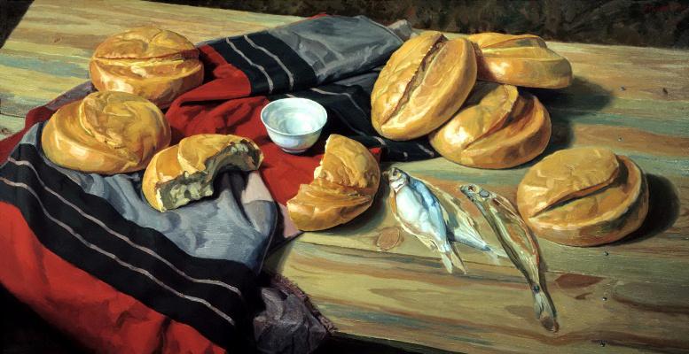 Victor Matorin. Seven loaves