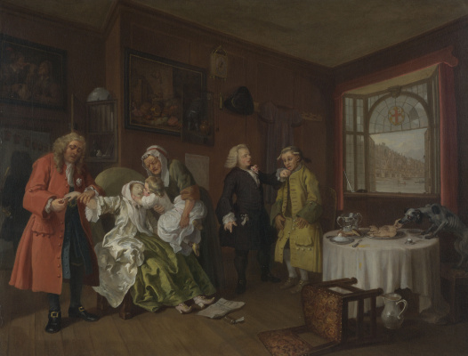 William Hogarth. A fashionable marriage. Part 6. Death of the Countess