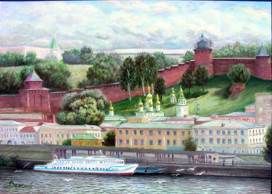 "Александр Федорович Важнев. ""Nizhny Novgorod. View from the river."""