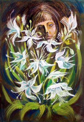 """Svetlana Ivanovna Kataeva. """"OH,THOSE WHITE FLOWERS,boom.,pastel"""