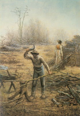 Jean-François Millet. Woodcutter, harvesting brushwood