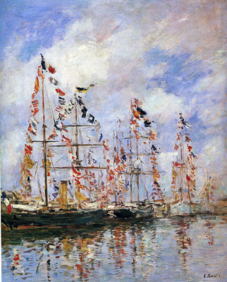 Sailboats in Deauville