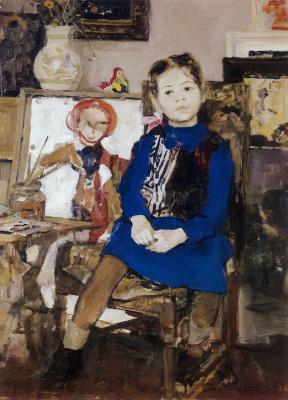 Андрей Андреевич Мыльников. Верочка (Портрет дочери)