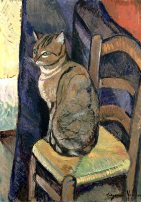 Сюзанна Валадон. Кот на стуле