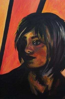 Ксения Баринова. Red girl portrait