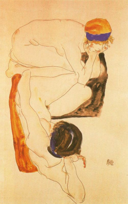 Egon Schiele. Naked girls