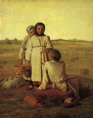 Alexey Gavrilovich Venetsianov. Peasant children in the field