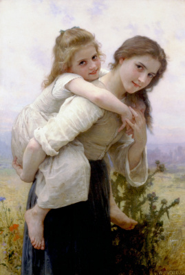 William-Adolphe Bouguereau. A pleasant burden